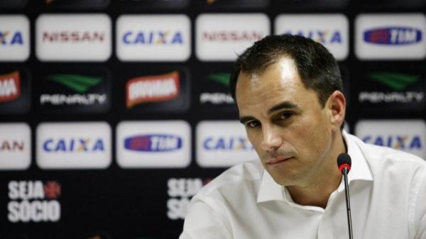 Rodrigo Caetano em 2014, quando era diretor-executivo do Vasco: hoje, dirigente está no rival Flamengo