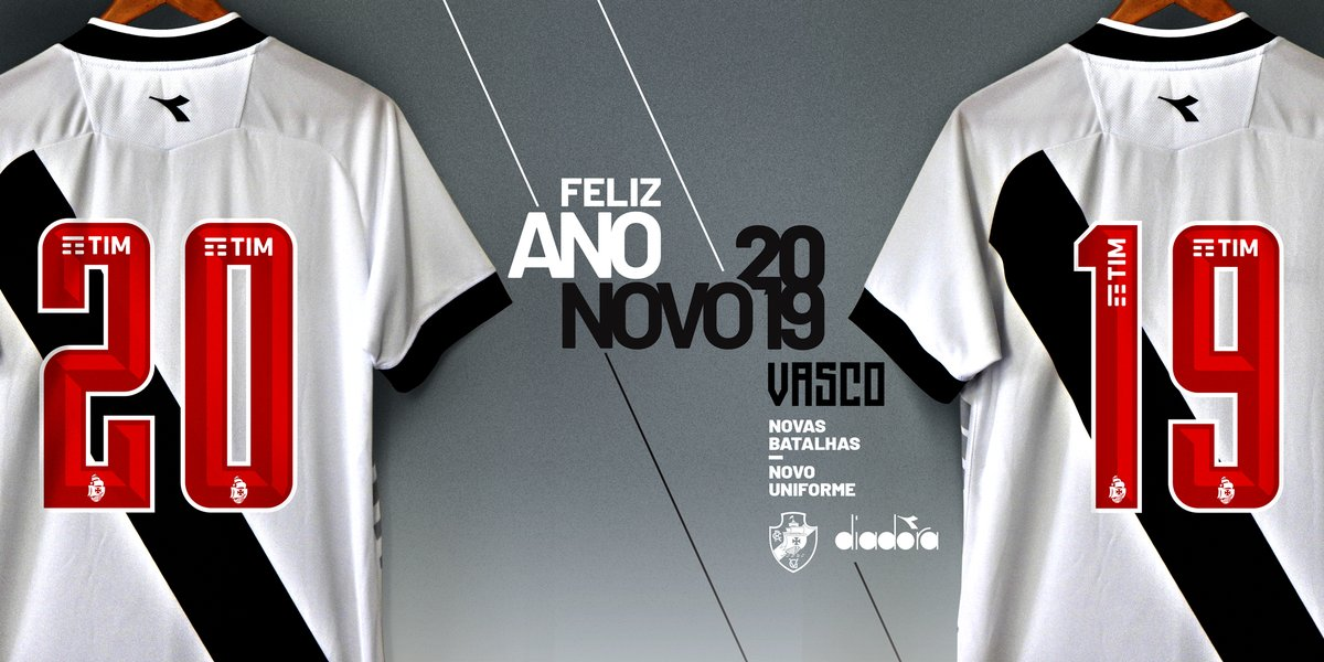Vasco releva parte da nova camisa em mensagem de Feliz Ano Novo ... 3b29c471ec558