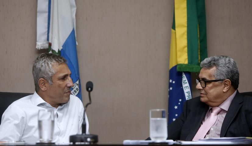 Dr. Rubens Lopes e Alexandre Campello (Presidente do Vasco)