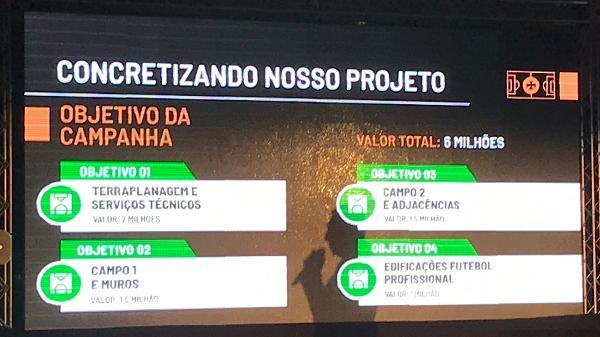 As quatro fases do projeto inicial do CT do Vasco apresentadas no evento de divulgação do clube