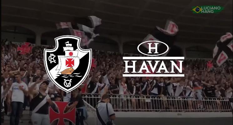 Montagem feita no vídeo publicado pela Havan para anunciar acerto com o Vasco