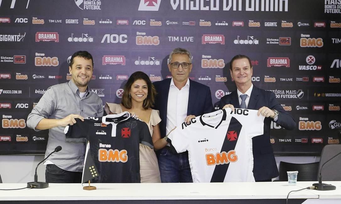 Banco BMG é patrocinador máster do Vasco desde março de 2019