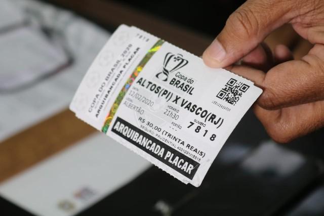 Ingresso Altos x Vasco - Copa do Brasil
