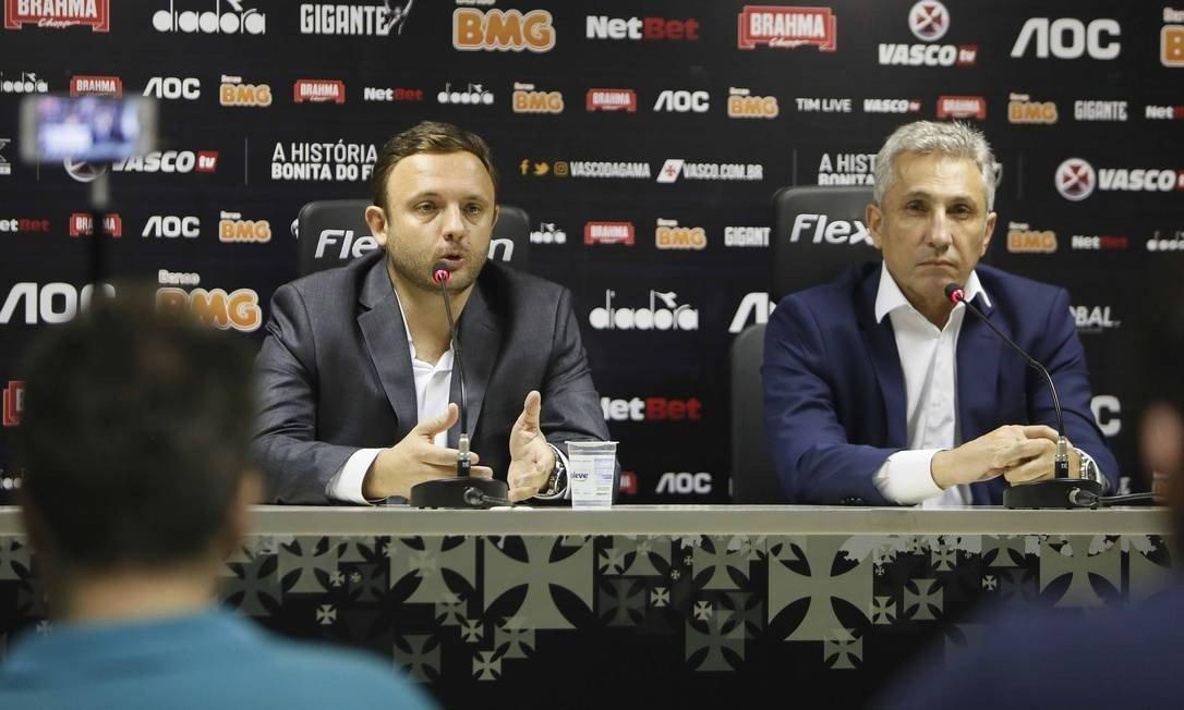 André Mazzuco (à esquerda) e Alexandre Campello tentam administrar problema financeiro