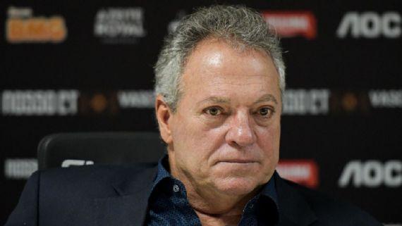 Abel Braga, ex-técnico do Vasco da Gama, durante entrevista coletiva