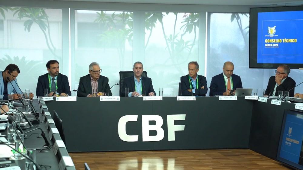 Rogério Caboclo, presidente da CBF, na reunião do Conselho Técnico: presidente estimava triplicar participação do futebol no PIB