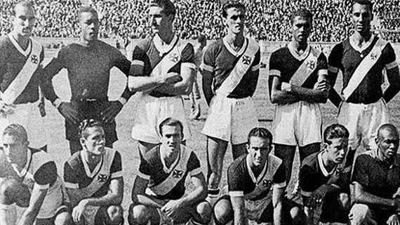 Time do Vasco campeão sul-americano em 1948 durante torneio no Chile