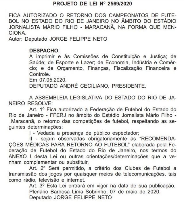 Projeto de Lei foi publicado em diário oficial e aguarda data para votação