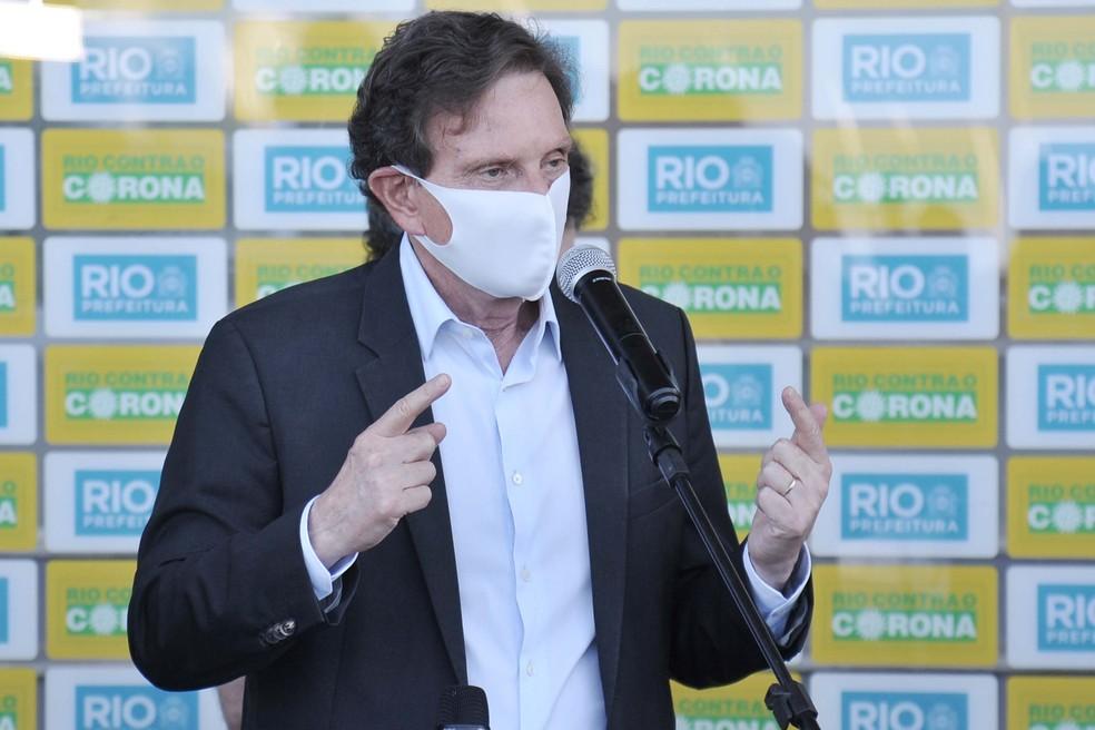 Marcelo Crivella concedeu entrevista nesta segunda-feira