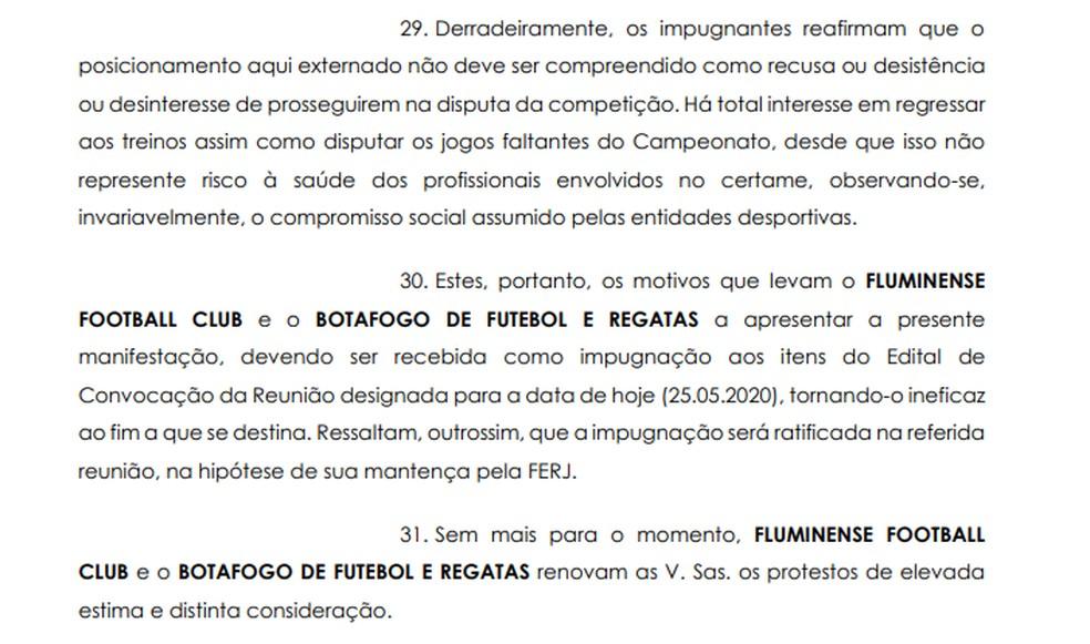 Botafogo e Fluminense pedem impugnação de arbitral da Ferj