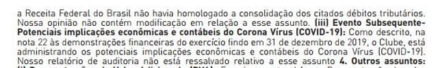 Nem a direção do Corinthians nem a auditoria ainda faziam comentários objetivos sobre os efeitos do coronavírus