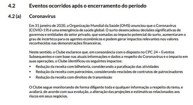 O Fluminense já considerava a perda de receitas recorrentes no caixa do clube