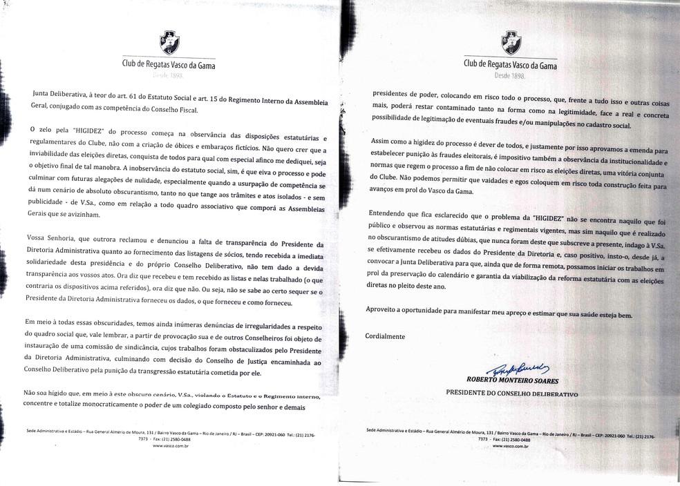 Segunda parte do ofício de Monteiro