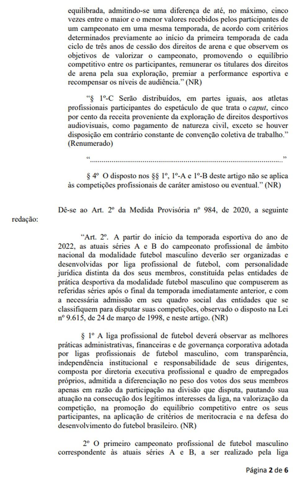 Página 2 da proposta de emenda à MP 984