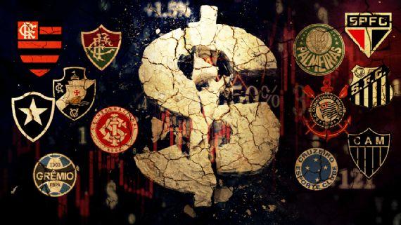 Principais clubes do Brasil dependem de dinheiro de bilheteria em receitas
