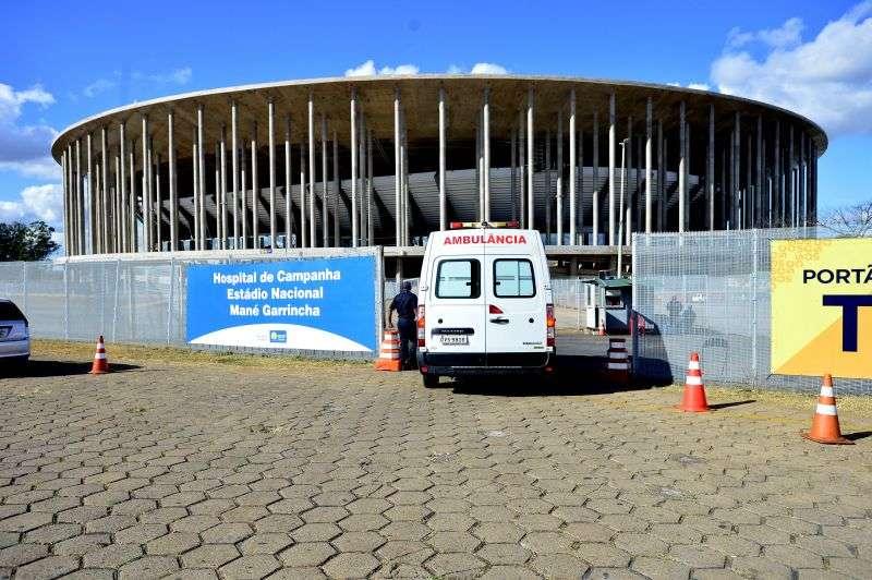 Se for autorizado, futebol dividirá espaço com hospital de campanha no Mané Garrincha