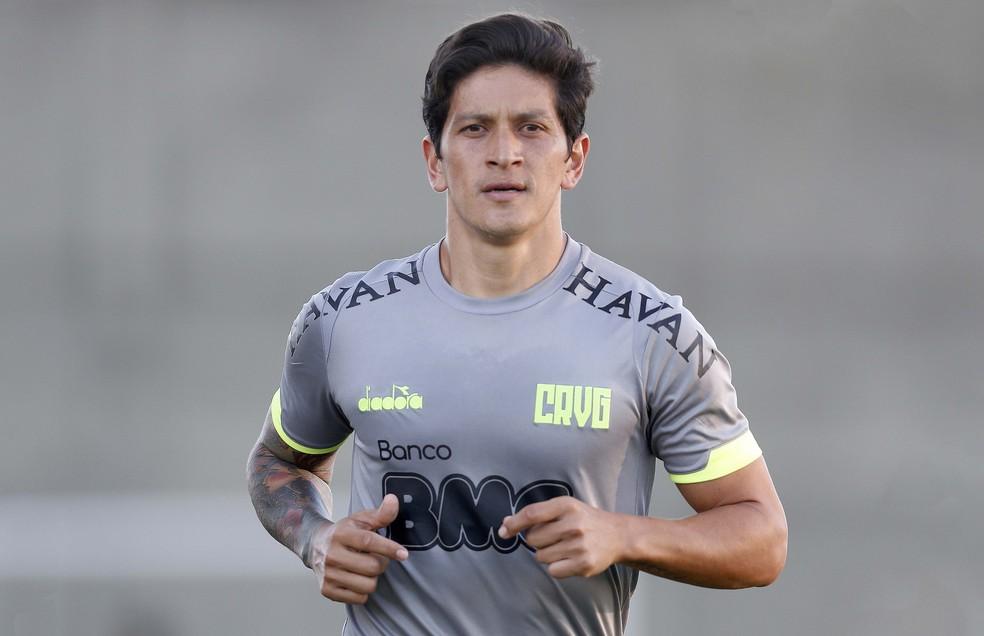 Germán Cano treinou nesta quarta-feira sem restrições em São Januário