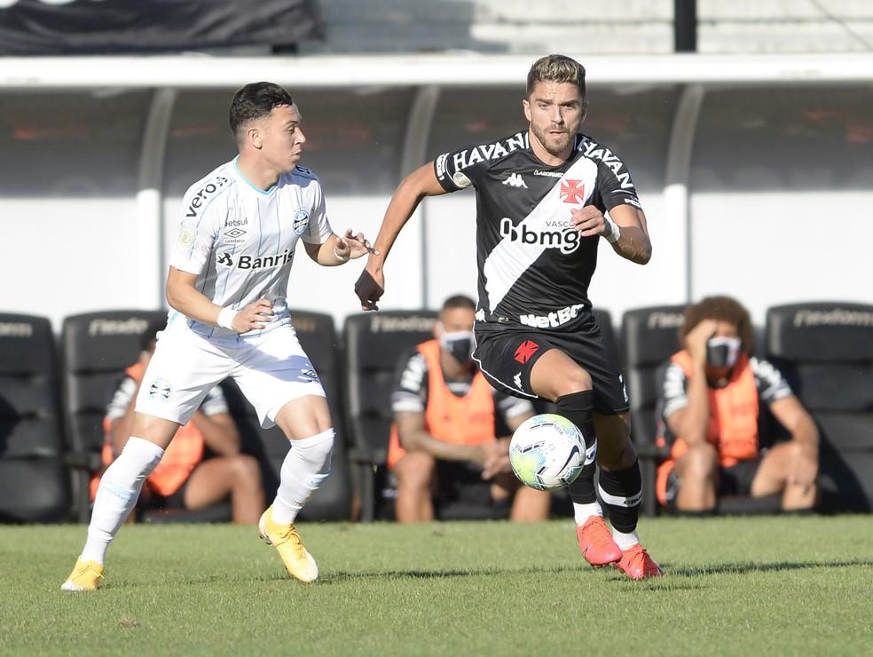 Cláudio Winck foi titular do Vasco em empate com o Grêmio