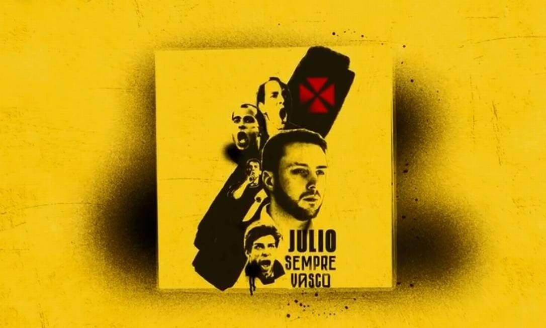Julio Brant é candidato à presidência do Vasco e tem imagem de Juninho em material de campanha