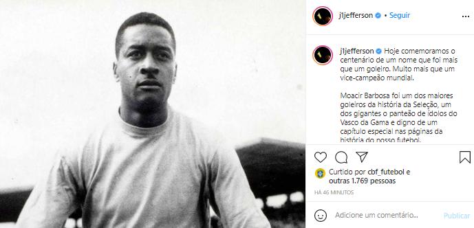 Jefferson (ex-goleiro da Seleção e do Botafogo)