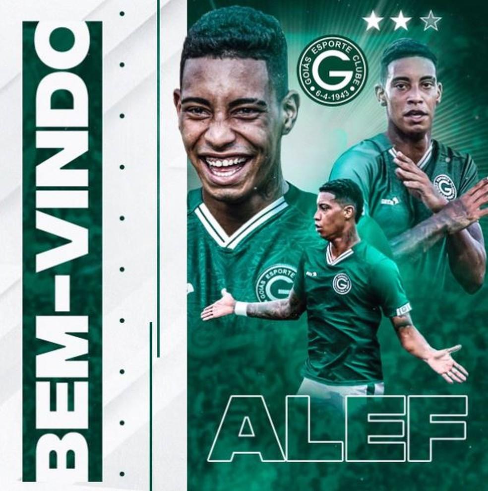Alef Manga defenderá o Goiás na Série B