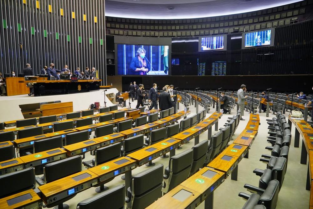 Plenário da Câmara dos Deputados, onde o PL do Mandante foi aprovado nesta quarta