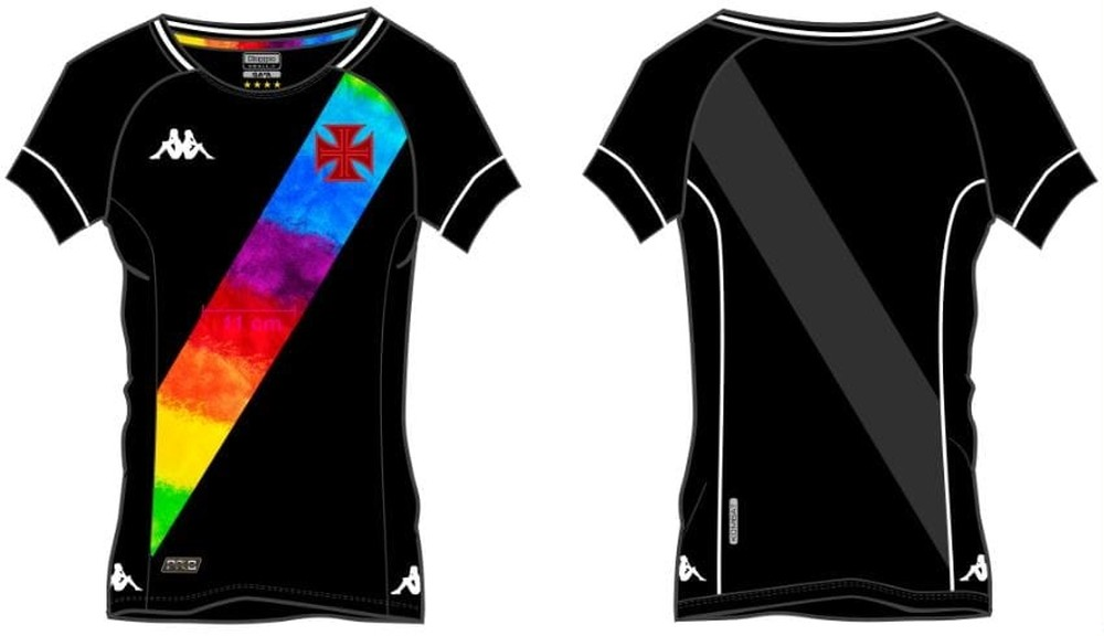 Confira como será a nova camisa do Vasco em homenagem à causa LGBTQIA